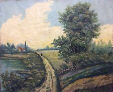 Paysage dans le goût école de Barbizon vers 1870 anonyme ?