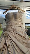 Ian Stuart Wedding Dress, size 6, taupe (Florentina)