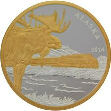 Alaska Mint Official Railroad 2014 Silver Medallion Proof 1Oz