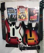 Guitar Hero / ROCKBAND Guitar Game Lot (Nintendo Wii)
