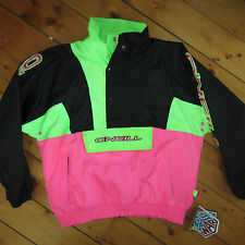 vtg men L '90s O'NEILL COLD WAR day-glo SNOWBOARDING pullover unlined JACKET NWT
