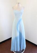 Lillie Rubin Blue Sparkly Metallic Shooting Star Evening Dress Formal Gown 14