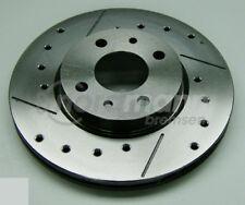 intercar Disco de freno perforado y ranurado para FIAT 257 mm
