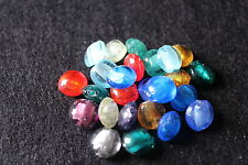 Hecho a mano aluminio plateado circular cuentas de cristal fabricación joyería