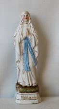 Vierge en biscuit Notre-Dame de Lourdes mains jointes époque 1900
