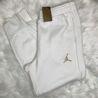 NWT Nike Air Jordan Jumpman Drake OVO White Gold Joggers Pants  826739