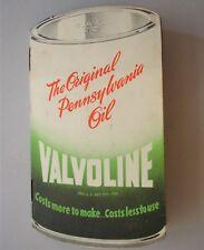 """Libretto Pubblicitario Olio Motori """"Valvoline"""" a forma di fusto, anni '60"""