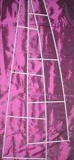 2 x Regal Gestell Leiter Regalträger silberfarben
