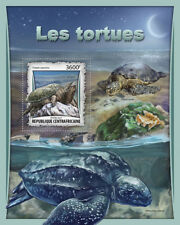 Central African Rep 2017 estampillada sin montar o nunca montada tortugas rompiendo Tortuga 1 V S/S reptiles sellos