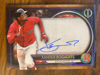 2020 TOPPS TRIBUTE XANDER BOGAERTS AUTOGRAPH 23/50 BOSTON RED SOX ON CARD AUTO