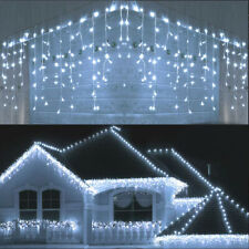 13FT Curtain Icicle Lights Wedding Party LED Fairy Christmas Indoor Outdoor US
