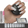 50x LONG SQUARE NAILS FULL COVER NATURAL OPAQUE False Fake NAILS FREE GLUE VIXI