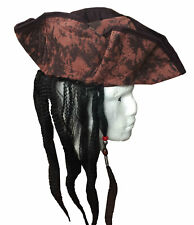 New Latest Brown Pirate Deluxe Hat with Hairs