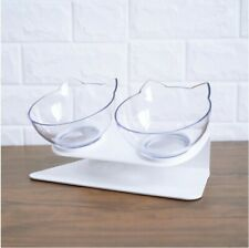 Non-slip Cat BOWL Double With Raised Stand for Dog or Cat