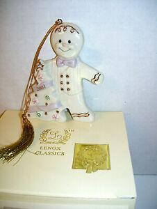 Rare LENOX 2001 Annual GINGERBREAD MAN Ornament - NEW IN BOX w/COA