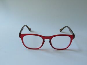 BETSEY JOHNSON Reading Glasses Red w/ Tortoise Arms Readers NEW
