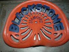 BLACKSTONE   VINTAGE CAST IRON TRACTOR IMPLEMENT SEAT COLLECTIBLES