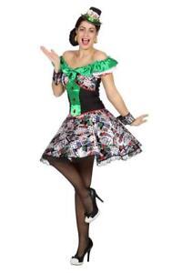 Hippy Karten Kartenspieler Rolette Rolett Kleid Kostüm Casino Hippie Party Disco