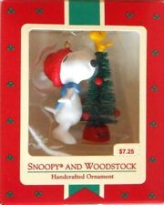 """HALLMARK CARDS 1972 PEANUTS """"SNOOPY AND WOODSTOCK"""" HANDCRAFTED ORNAMENT -  NIP!"""