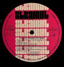 1970 CAPTAIN BEEFHEART LICK DECALS -GERMANY- ORIGINAL ZAPPA STRAIGHT RECORDS LP