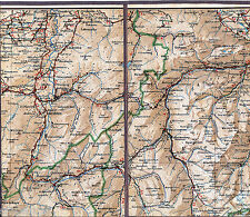 Saanen Gstaad Zweisimmen Gruyères 1912 Teilkarte/Ln. Bulle Lenk Adelboden Oex