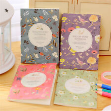 Flower Bird Pocket Notebook Journals Paper Diary Weekly Planner Writing Pad Note