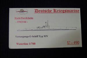 HP Models 1:700  WL  Versorgungs-U-Schiff  Typ XIV  U-490 -1943/44-