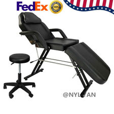 "Us Pro 75"" Adjustable Massage Bed Beauty Salon Spa Tattoo Chair with Stool"