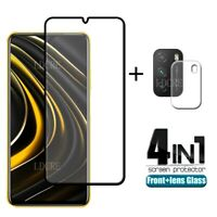 4 IN1 For Xiaomi POCO M3/X3 NFC Camera Lens + 3D Tempered Glass Screen Protector