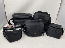 LOWEPRO, Samsonite, Targus, Lot of 5 Camera Mini Camcorder Bags Black Carry Case