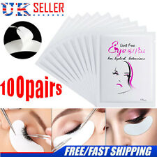 100 Pairs Eyelash Extension Under GEL Eye Pads Salon Lint Patches Make-up