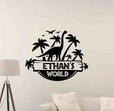 Personalized Wall Decal Jurassic World Park Vinyl Sticker Custom Name Poster 998