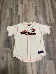 Majestic Stan Musial St. Louis Cardinals Jersey Cooperstown Collection Sz Large