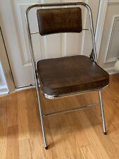 Mid Century Modern Samsonite Folding Chair~Chrome And Leather