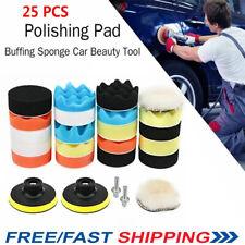 "25 Pcs Professional 3"" Auto Car Global Foam Sponge Waxing Buffing Polishing Pad"