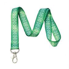 Green Celtic Knot Lanyard Key Chain Id Badge Holder