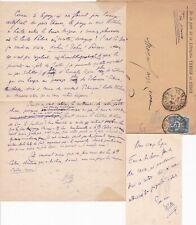 ✒ [Ambroise THOMAS & Mignon] C.A.S & M.A.S WILLY avec carte de visite COLETTE