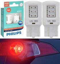 Philips Ultinon LED Light 7443 Red Two Bulbs Front Turn Signal Replace Off Road