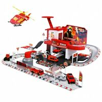 Feuerwehr Parkhaus Autogarage Tankstelle Garage Parkgarage Spielzeug Auto NEU