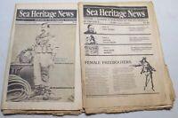 Vintage Sea Heritage News Foundation Newspaper Maritime Ships Boats Nautical
