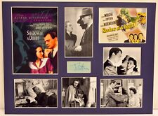 """""""Shadow of a Doubt"""" Collage with Joseph Cotten Autograph (includes COA)"""