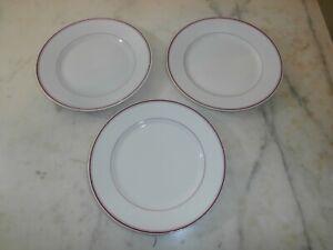 Ginori verde 3 antichi piatti da dolce porcellana Richard Ginori 800