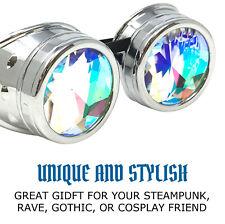 Kaleidoscope Rave Steampunk costume goggles cyber goth punk Rainbow Glasses