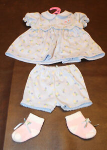 🍼Baby Annabell/ Born Zapf Creations Doll-Dress & Shorts+ Booties