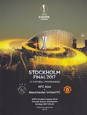 * 2017 UEFA EUROPA LEAGUE FINAL - MANCHESTER UNITED v AJAX  PROGRAMME & POSTER *