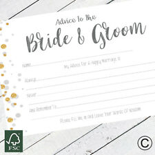 Advice To The Bride and Groom Cards Wedding Favours Guestbook Advice For Bride P