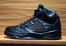 Nike Air Jordan 5 V Retro Premium SZ 9.5 Triple Black Pinnacle LUX 881432-010