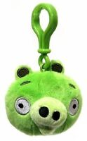 Angry Birds Plush Backpack Clip - Green Pig, New, Commonwealth Toy & Novelty Co.