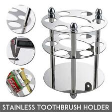 US Stainless Steel Bathroom Toothbrush Toothpaste Cup Holder Stand Razor Storage