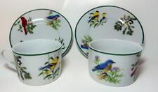 2 National Wildlife Federation Cup Saucer Songbirds Bluebird Cardinal Birds +